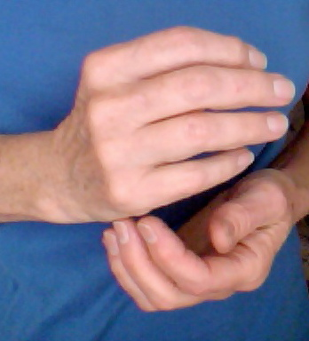 Tapping EFT karate chop point